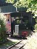 Simplex diesel locomotive 'Thorpeness' at work on the 2ft gauge line at the EATM 26-09-15 (2)