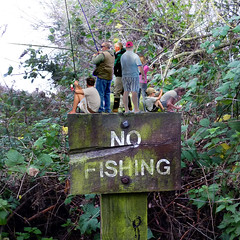 No Fishing. What sign?