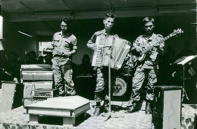 1972 - A band composed of soldiers are performing in Saigon. November 10, 1972