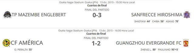 Mundial de Clubes Japón 2015: Cuartos de Final