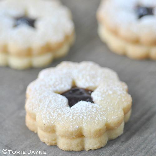 Gluten free black cherry linzer cookies recipe