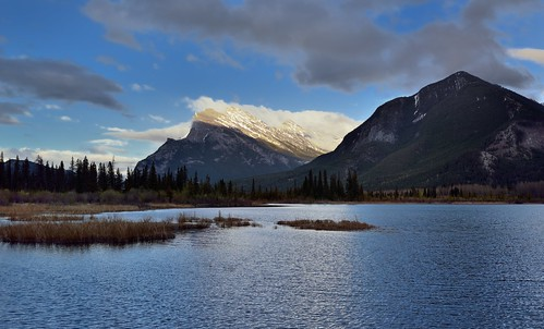 Mount Rundle Caught in the Beautiful Light of the Late Afternoon Sun (Banff National Park)