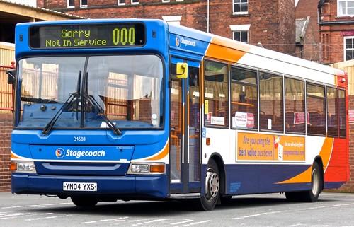 YN04 YXS 'Stagecoach Yorkshire' No. 34583 Dennis Dart SLF / Alexander Pointer 2 on Dennis Basford's 'railsroadsrunways.blogspot.co.uk'