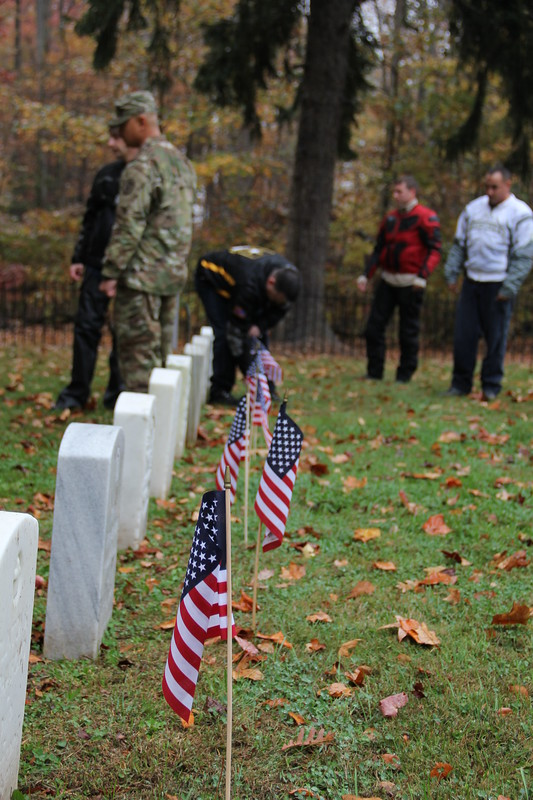 Thunder riders flag APG cemeteries Nov. 9, 2016