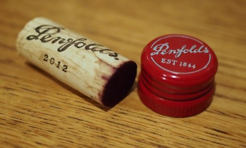 The same wine sealed with cork and screwcap Comparision