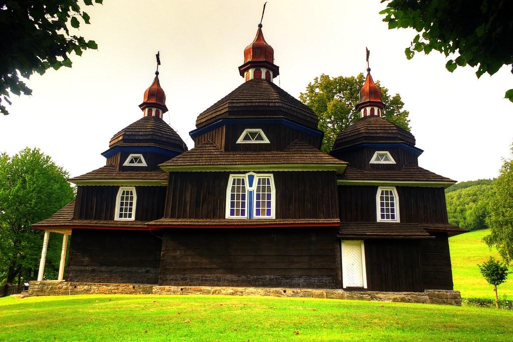 wooden church nizny komarnik slovakia, dukla pass slovakia, dukla wwii battles slovakia, greek catholic churches in slovakia