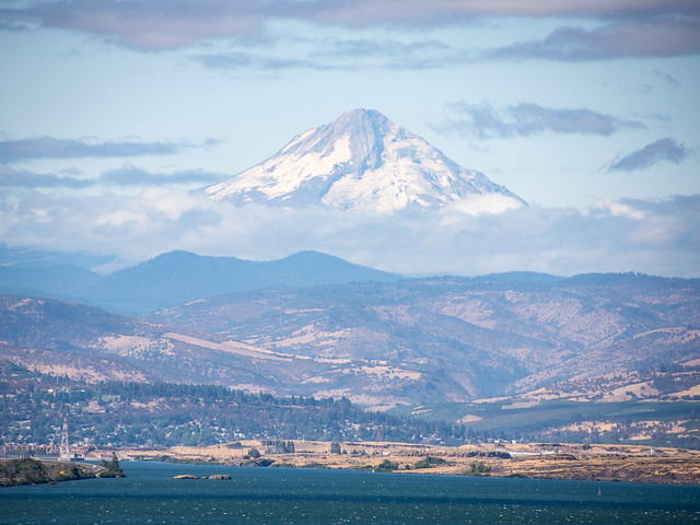 Mt. Hood over Columbia River