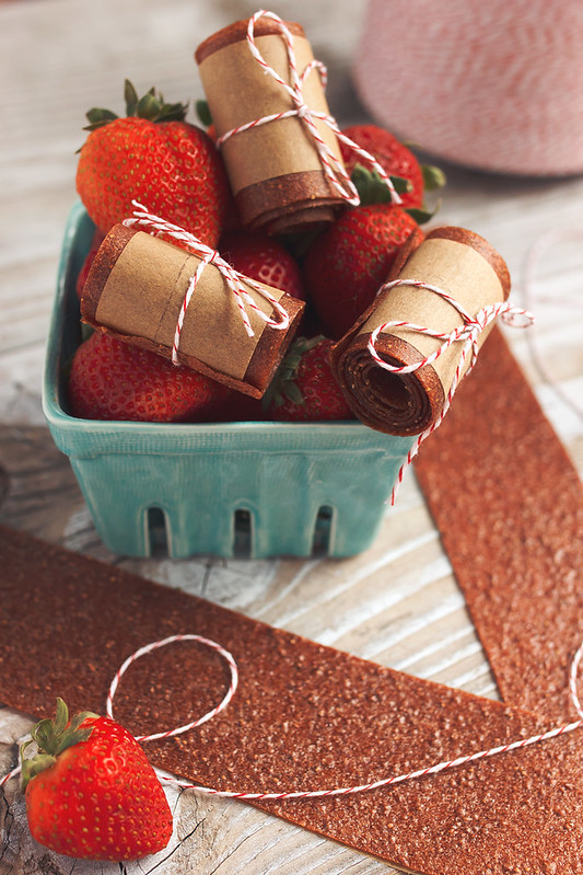 Honey-Sweetened Strawberry Fruit Leather - Tasty Yummies