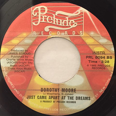 DOROTHY MOORE:JUST CAME APART AT THE DREAM(LABEL SIDE-B)