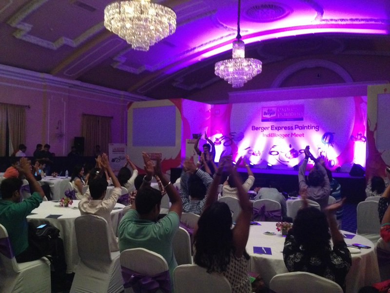 Ball Room of Grand Hotel - Berger Express Painting IndiBlogger Meet 2015 at The Oberoi Grand, Kolkata