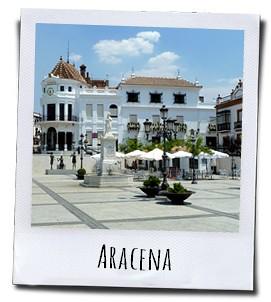 Het gezellige authentieke stadje Aracena in de provincie Huelva in Andalusië