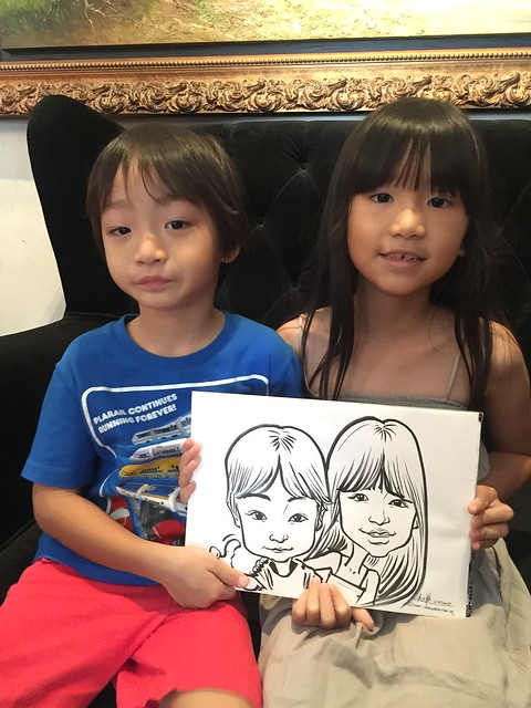 Caricature live sketching for baby first month celebration