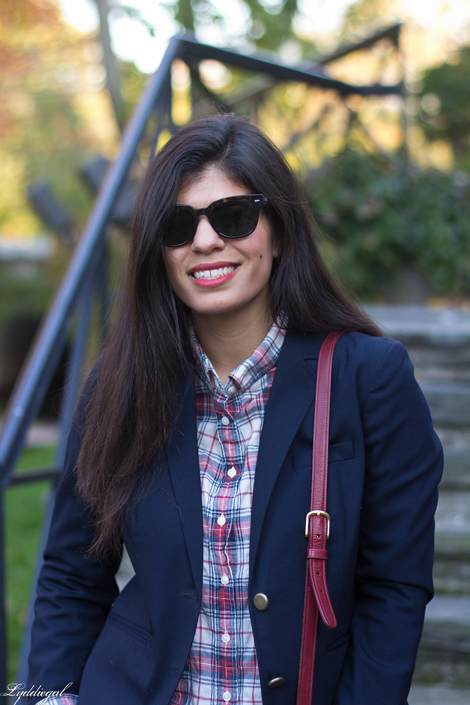 plaid shirt, navy blazer, red willis bag-19.jpg
