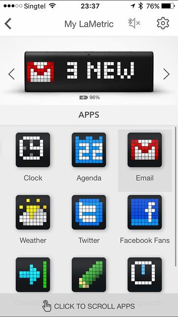 LaMetric iOS App - My LaMetric