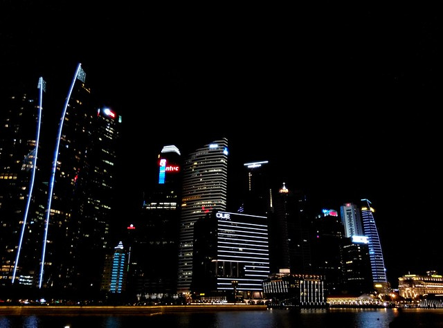View of UBS, Prudential, NTUC, OUE, HSBC and Fullerton
