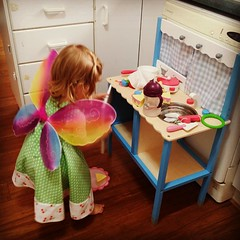 Featuring multiple 2nd birthday presents #luckygirl #mybeautifulbaby #Aldikitchen #butterflywings #handmadedress #sogorgeous