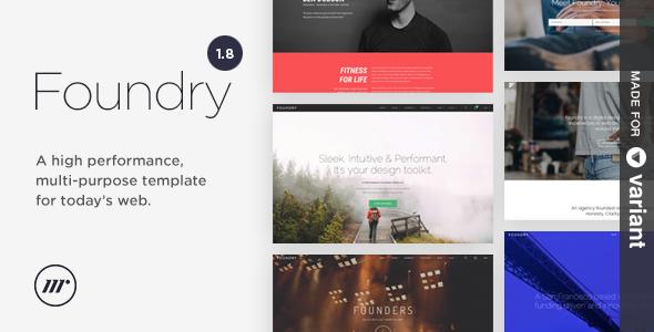 ThemeForest Foundry v1.8.3 - Multipurpose HTML + Variant Page Builder