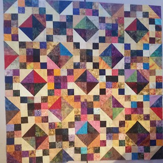 Fourth finish of the weekend. Batik jewel box quilt.