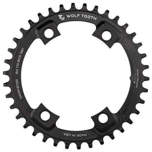 Wolf Tooth Components / Drop-Stop Chainring / 110 BCD Asymmetric 4-Bolt for Shimano Cranks