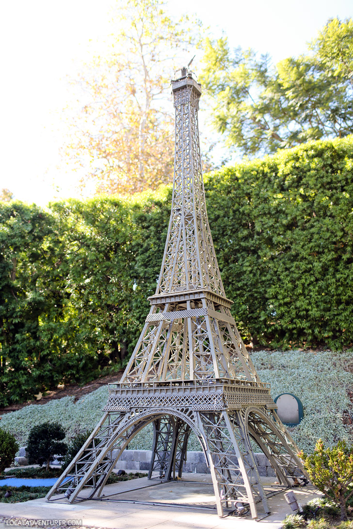Lego Eiffel Tower Paris - If you love travel, you will be fascinated with this around the world tour at Legoland San Diego.