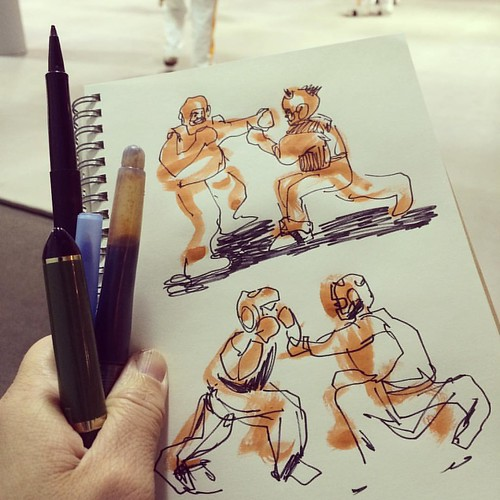 It's #sparring day! #lifedrawing #sketching #sketchbook