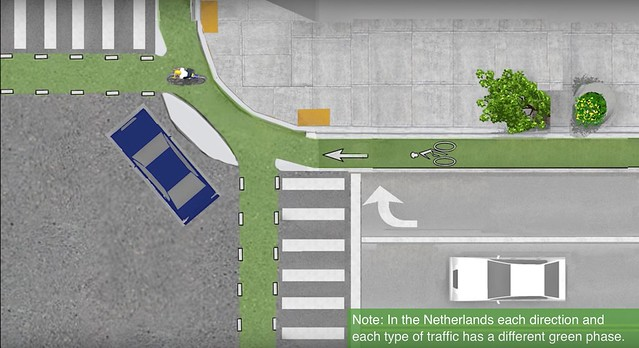 Bike Lane Chicago >> CDOT Pilots Bike Lane Treatment Inspired by Dutch Protected Intersections – Streetsblog Chicago