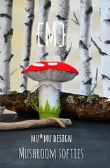 Mumu mushroom softie cover