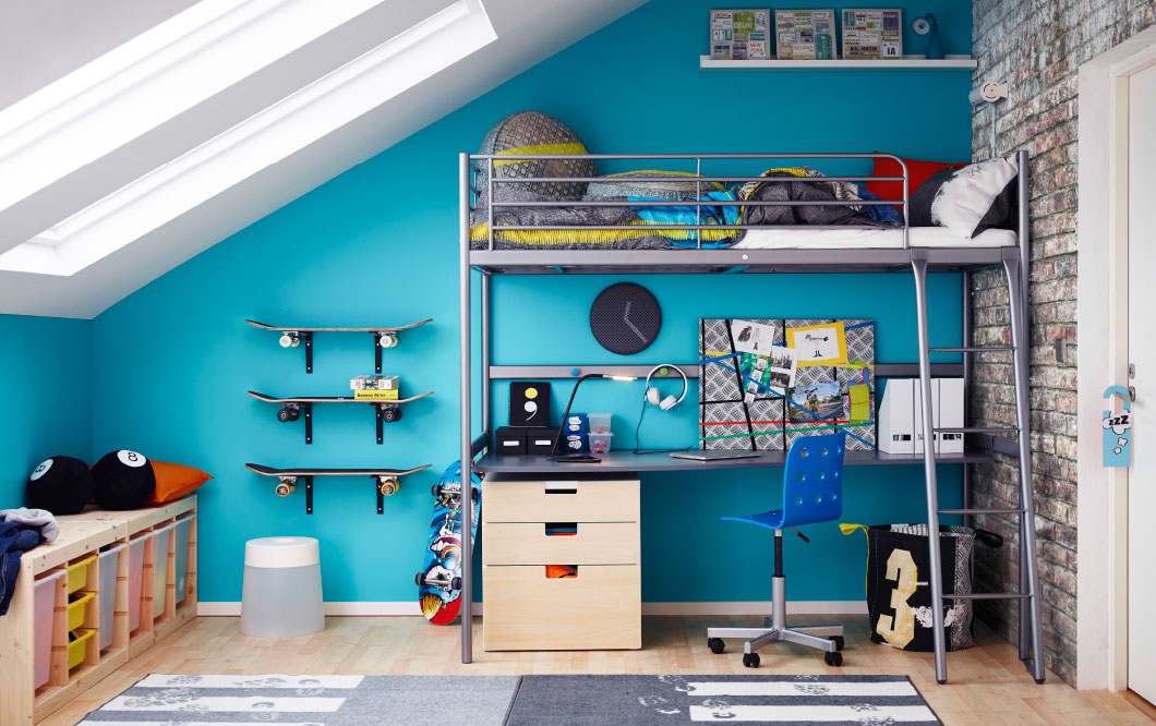 IKEA Blue Boys Room