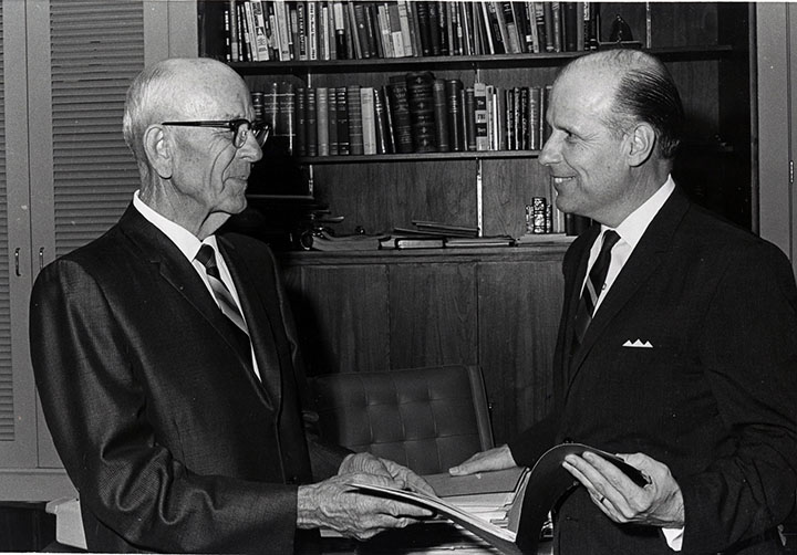 Dr. E.S. James and Dr. James E. Wood Jr., 1968