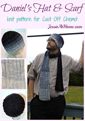 Daniel's Hat and Scarf Set knit pattern for Cast Off Chemo!