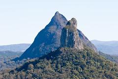 Mt Coonowrin and Mt Beerwah behind it