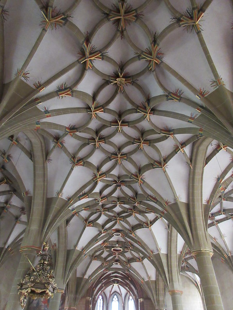 Ceiling vaults, Stadtkirche, Bad Wimpfen, Germany