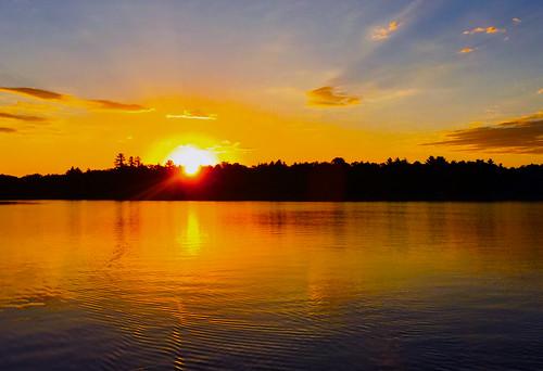 zap minnesota lake sunset water clouds reflection sky landscape
