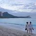Couple Walking on Beach - Waikiki Hawaii by Wilson Hui