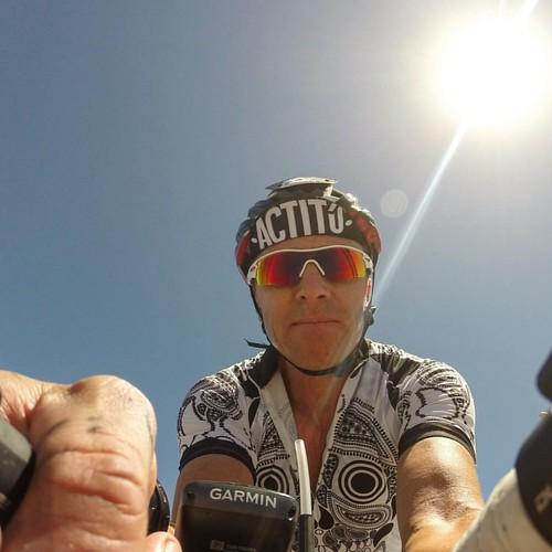 Luego de 2 semanas sin rodar, intenté un 200k pero las gambas no estuvieron de acuerdo. Salió un 160k #bike #actitú #putoviento