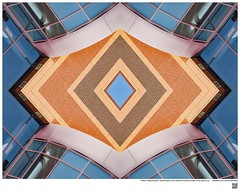 Modern Mandala Title: ​William Temple Franklin, Called Temple or the Luckman  Fine Arts Complex at Cal State LA IV  #BartRoss ©2016  #calstatela #mirrored #artists_magazine #abstractphotography  #artprints #sharingart #Curator #LAart #surreal42