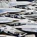 Aircraft stand by on the flight deck of USS Dwight D. Eisenhower. by Official U.S. Navy Imagery