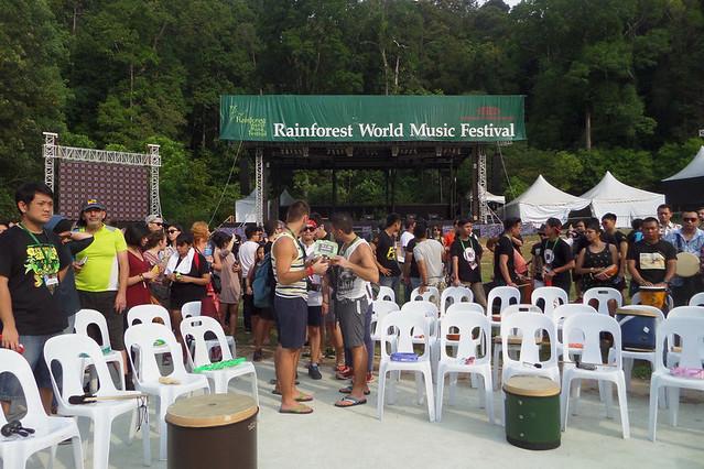 Rainforest World Music Festival 2015-Drum-Circle