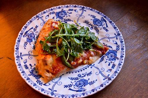 Summer Corn & Bell Pepper Pizza with Taleggio Cheese & Fresh Thyme