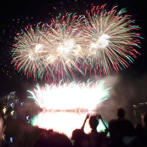 Birthday fireworks courtesy of Venezuela, Sound of Light Show