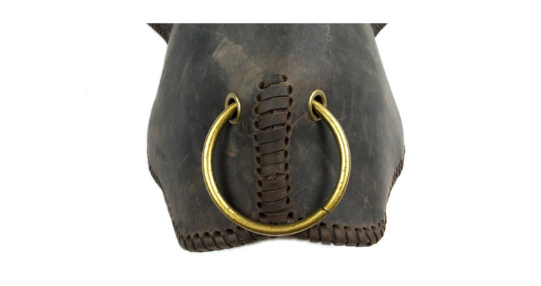 Leather longhorn backpack