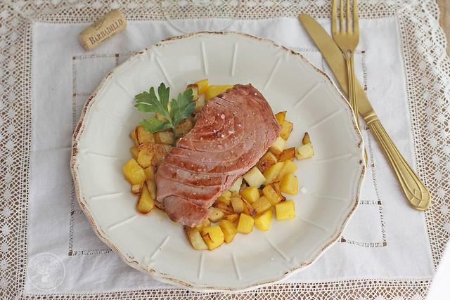 Atún con manzana y mango al aroma de Barbadillo www.cocinandoentreolivos.com (13)