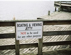 Sign - Boating & Viewing Jetty - Not to be used for any other purpose