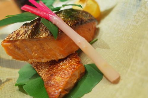 焼物:秋鮭の幽庵焼き