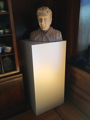 White Laminate Pedestal with Bust