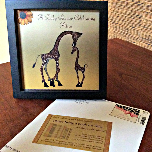 Baby Shower Giraffe Invitation