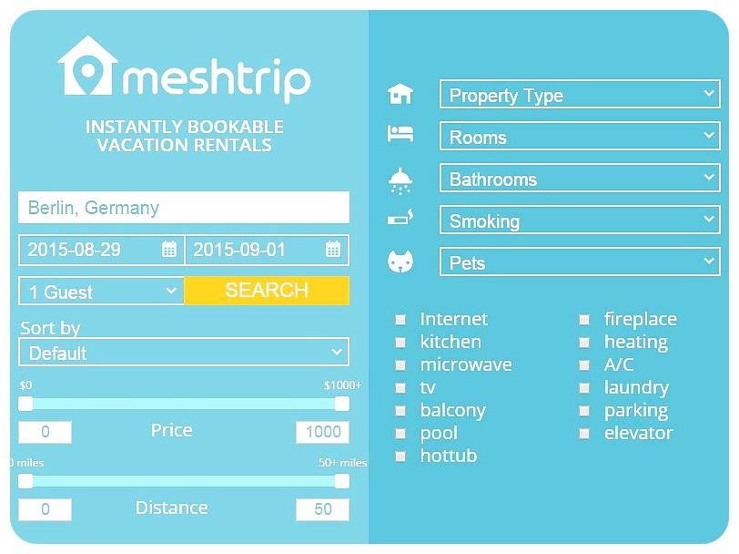 meshtrip more filters