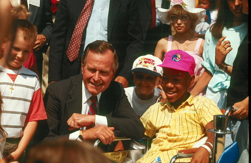 President George H.W. Bush at Children's Inn