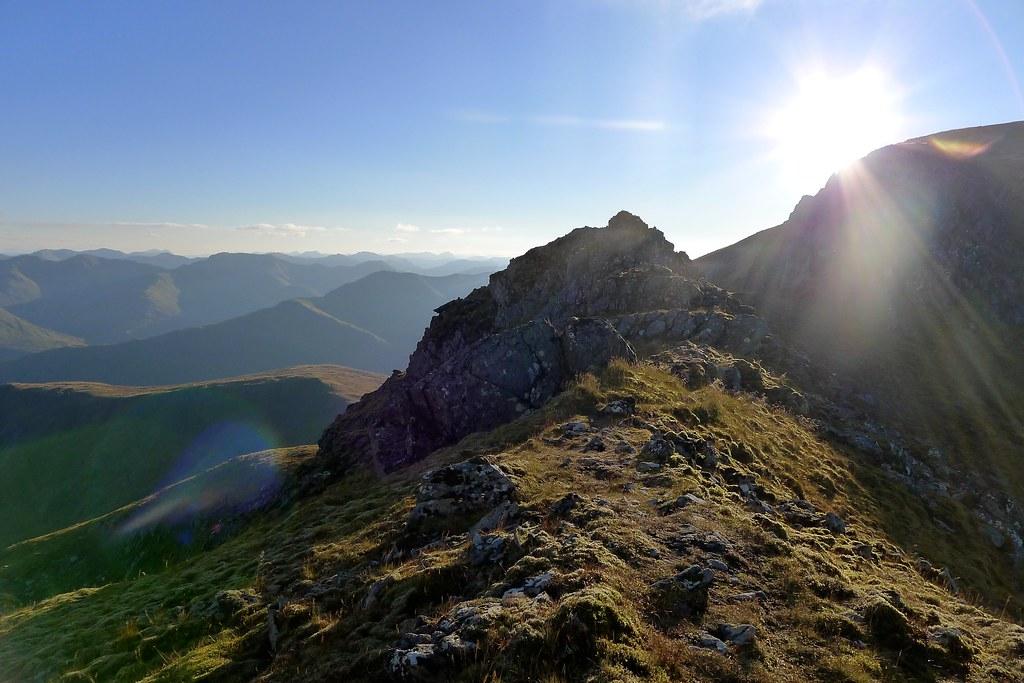 On the ridge of Sgùrr nan Ceathreamhnan