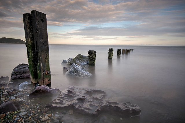 Groynes at Sunset